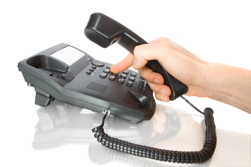 dialing on business telephone